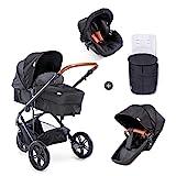 Hauck Pacific 3 Shop N Drive Kombikinderwagen 6 teilig bis 18 kg + Babyschale + Babywanne umbaubar...