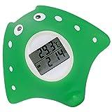 Digitales Baby Badethermometer mit LED-Warnsinal für sicheres Baden,Uhr- und Timerfunktion, 2 in 1 Bade- und Raumthermometer, Baby Wasserthermometer zum Messen der Wassertemperatur und Spielen
