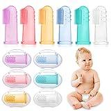 HBselect 6 pcs Baby Zahnbürsten Zahnpflege Kinder Silikon Finger Mundpflege mit Aufbewahrungsbox...