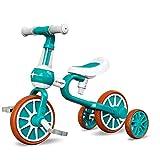 3-in-1-Kinder-Laufrad, Kinderdreirad mit abnehmbarem Pedal und Stützrädern im Alter von 1 bis 4 Jahren - erstes Fahrrad-Baby-Walker-Fahrrad für Jungen und Mädchen seit 10 bis 24 Monaten