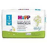 HiPP Babysanft Windeln für Säuglinge, Mit Nässeindikator, Geeignet von 2-5 kg, Gr. 1 (50-56), 1...