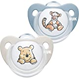 NUK Trendline Schnuller | 0-6 Monate | BPA-freier Schnuller aus Silikon | Disney Winnie Puuh | Blau...