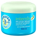 Penaten Intensiv Pflegecreme Gesicht & Körper 100ml / 24h Pflege für Babys / Feuchtigkeitsspendende Creme für trockene Haut 100ml