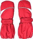 Playshoes Kinder - Unisex 1er Pack warme Winter-Handschuhe mit Klettverschluss Fäustling, Rot (Rot (Rot 8)), 1 ( 12-24 Monat) (Herstellergröße: 1 ( 12-24 Monat))