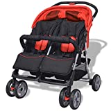 yorten Baby Zwillingswagen Klappbar mit Regenschutzhaube Zwillingskinderwagen aus Stahl und...