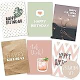 25er Set Geburtstagskarten hochwertig - Glückwunschkarte, Postkarte zum Geburtstag - Happy Birthday...