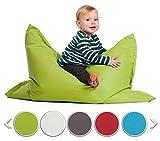 sunnypillow S Sitzsack, Outdoor & Indoor 100 x 70 cm mit 60L Styropor Füllung Sessel für Kinder &...