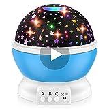 Dreamingbox Weihnachts Geschenke für Kinder ab 3-12 Jahre, Nachtlicht Baby Spiele ab 2 3 4 5 6 Jahren Halloween Licht Geschenke Kinder 3-12 Jahre Geburtstagsgeschenk für Jungen ab 3-12 Jahre Blau