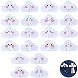 yyuezhi Kinderhaken Wandhaken Klebehaken Selbstklebende Wandhaken Kunststoff Handtuchhaken Schlüssel Haken Gadget Haken Küche Badezimmer Wandhaken Kleiderhaken Kleiderhaken für Kinder Süße Form 20 Stk