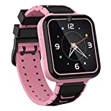 Kinder Smart Watch Telefon - HD Touchscreen Smartwatch für Mädchen Jungen mit 7 Spielen,Musik Player Taschenlampe Anruf SOS,Fotos Machen Wecker Kinder Geburtstagsgeschenke 3-12(Rosa)