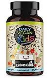 Daily Vegan for Kids - Vitamine & mehr mit B12 + D3 + K2 + Omega3 + B2 + B6 + A + C + E + Calcium + Magnesium + Eisen + Zink + Kalium + Jod + Natrium + Selen - 120 Kapseln (4 Monats-Vorrat)