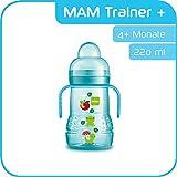 MAM Trainer+ (220 ml), Trinklernflasche für den Übergang zum Becher, auslaufsicherer...