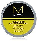Paul Mitchell MITCH Clean Cut - Styling-Creme für semi-matte Männer-Haare, Haar-Wax für mittleren...