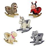 Plüschschaukeltier - Modellwahl, für Babys und Kinder, Plüsch, Haltegriffe mit Rückenlehne, ab...