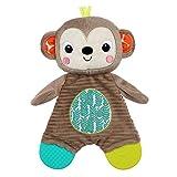 Bright Starts, Plüschtier und Zahnungshilfe, Affe - aus Knistermaterial zum Kuscheln, Beißen und Spielen