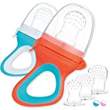 2 Fruchtsauger für Baby & Kleinkind + 6 Ersatz-Sauger in 3 Größen aus hygienischem Silikon -...