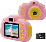 Cocopa Kinder Fotoapparat Kinderkamera für Jungen, Digitalkameras für Kinder kamera 32 GB...
