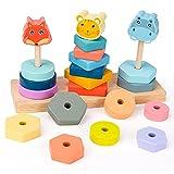 Holzspielzeug Für Kinder Mädchen ab 1 2 3 Jahr, Montessori Spielzeug 2 3 4 Jahre Mädchen Jungen Geburtstagsgeschenk für 1-3 Jahre Mädchen Holzspielzeug Baby Bausteine für Kinder ab 1 Jahr