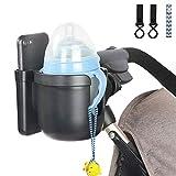 Getränkehalter für Kinderwagen Buggy,Universal Fahrrad Kinderwagen Buggy Flaschenhalter...