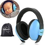 Gehörschutz Baby 0-2 Jahre | Kinder Gehörschutz | Ohrenschützer Lärmschutz Baby | Kopfhörer Baby | mit Aufbewahrungsbeutel(Blau)