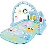 Aional Spielmatte Baby Mit Musik Klavierfitness & Lights,Spieldecke Baby Krabbeldecke Für Baby Spielbogen Für Babys,für 3-6-12 Monate