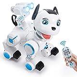 ANTAPRCIS Ferngesteuert Hund Roboter Spielzeug, Intelligent RC Hund mit Licht und Musik,...