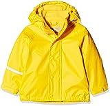 CareTec Kinder Regenjacke mit Fleece Lining, Gelb (Yellow 324), Herstellergröße: 80