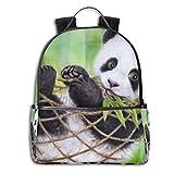 Animal Artistic Baby Animal Hängematte Panda, multifunktional, für Studenten, Casual Daypack, Reisen, Schule, Laptop, Büchertaschen