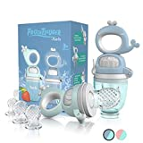 TABRIX® Fruchtsauger Baby ab 4 Monate & Kleinkind (2x) - Zahnungshilfe mit Druckfunktion - BPA-Frei...