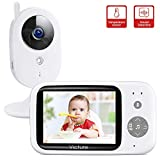 Victure Babyphone mit Kamera, Video Baby Monitor/Baby Überwachung, 3.2' Wireless Digital LCD Bildschirm Nachtsicht Temperaturüberwachung Gegensprechfunktion VOX Schlaflieder Wecker Wiederaufladbar
