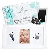 Homety Handabdruck Baby - Fußabdruck Baby Abdruckset - auffüllbares Clean Touch Stempelkissen im...
