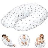 Stillkissen Schwangerschaftskissen zum Schlafen Seitenschläferkissen - Lagerungskissen für Baby XXL Pregnancy Pillow Oeko-Tex