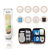 Haarschneider, Elektrischer Baby Haarschneider, Wiederau Fladbarer IPX7 Wasserdichter USB Haarschneider, mit Aufbewahrungstasche und 3 Führungskämmen im Beutel zur Einfachen Aufbewahrung