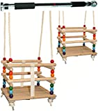 alles-meine.de GmbH 2 TLG. Set _ Babyschaukel / Kinderschaukel - mit abnehmbaren Gurt + Türreck -...