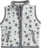 Schnizler Baby-Unisex Fleece Sterne Weste, Grau (Grau 33), (Herstellergröße: 74)