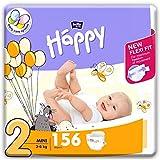 bella baby Happy Windeln für Babys Gr. 2, 3-6 kg, im Monatspack mit perfekter Passform und maximalem Schutz - 156 Stück