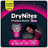 Huggies DryNites hochabsorbierende Nachtwindeln bei Bettnässen, für Mädchen 8-15 Jahre, 52...