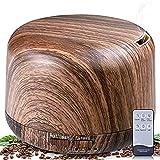 B-right Aroma Diffuser 300ml Ultraschall Duftzerstäuber Ätherisches Öl Diffusor Holzmaserung Diffusor Luftbefeuchter mit 7 Farben Duftzerstäuber für für Aromatherapie, Yoga, Luftreinigung