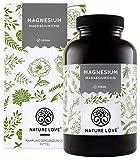 NATURE LOVE® Magnesium – 660mg (400mg elementar) je Kapsel - 365 Kapseln (Jahresvorrat) - Höher...