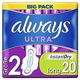 Always Ultra Binden Damen Gr. 2 (20 Damenbinden mit Flügeln) Big Pack, ultra dünn und super saugfähig, geruchsneutralisierend und Auslaufschutz