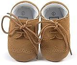 Matt Keely Baby Jungen Mädchen Weiche Sohle Turnschuhe Kind PU Schnüren Schuhe 0-6 Monate
