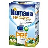Humana HA PRE, hypoallergene Anfangsnahrung für Babys mit erhöhtem Allergie-Risiko, Milchpulver...