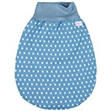 Lilakind Schlafsack Strampelsack Pucksack Frühling/Sommer Sterne Jeansblau Weiß 0-3 M