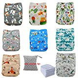 Ohbabyka Reusable Washable Baby Boys/Girls Pocket Cloth Diapers with 1pc Insertohbabyka Wiederverwendbare Unisex Baby Tuch Pocket Windeln All in One mit 1?weichen Tuch inneren