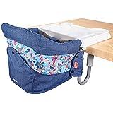Mosbaby Faltbar Baby Tischsitz mit rutschfestem Clip, Essteller, Tragbarer Esszimmerstuhl mit Transportbeutel, geeignet für zu Hause und unterwegs.