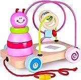 Rolimate Nachziehspielzeug Montessori Spielzeug 4 in1 Holzspielzeug, Stapelturm Spielzeug Sortier &...