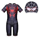 Jungen Badeanzug Spiderman Badeanzug Badebekleidung Bademode Schwimmhose Uv Schutz Shirt Kinder Mit...