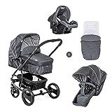Hauck Pacific 4 Shop N Drive/Kombikinderwagen 7 teilig/bis 25 kg/Babyschale Gr. 0/Babywanne...