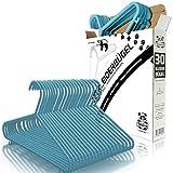 Babylovit 30 Stück Kinderkleiderbügel | starke & formstabile Babykleiderbuegel in blau| für Baby- und Kinderbekleidung