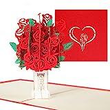 Naispanda Pop up Karte Geburtstagskarte, 3D Pop-Up-Grußkarten Geburtstag, Glückwunschkarte für frauen(Grußkarten Geburtstag, Einladung, Liebeskarte, Hochzeitstag Grußkarten, Muttertagskarte)